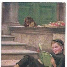 Postales: PUBLICITARIA. NIÑO LEYENDO. BOY READING. NEWINGTON. CONNECTICUT.. Lote 124631191