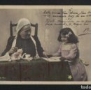 Postales: NIÑA CON SU NANI O ABUELA.SERIE COMPLETA DE 10 POSTALES.CLAYETTE PHOTO.POSTALES CIRCULADAS EN 1903.. Lote 124662979