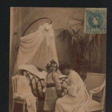 Postales: NIÑA CON SU MADRE.SERIE COMPLETA DE 10 POSTALES.COLECCION CÁNOVAS SERIE V. CIRCULADAS EN 1903. Lote 124664399