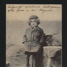 Postales: NIÑO.POSTÁL CIRCULADA EN 1902.. Lote 124667083