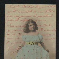 Postales: NIÑA. POSTÁL CIRCULADA EN 1903.. Lote 124667391