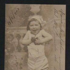 Postales: NIÑO. POSTÁL CIRCULADA EN 1903.. Lote 124667451