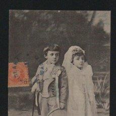 Postales: PAREJA DE NIÑOS. POSTÁL CIRCULADA EN 1903.. Lote 124667507