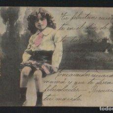 Postales: NIÑO. POSTÁL CIRCULADA EN 1904.. Lote 124667871