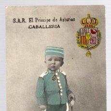 Postales: TARJETA POSTAL S.A.R. EL PRINCIPE DE ASTURIAS. CABALLERIA. FCO. REYES. AÑO 1908. Lote 126242359