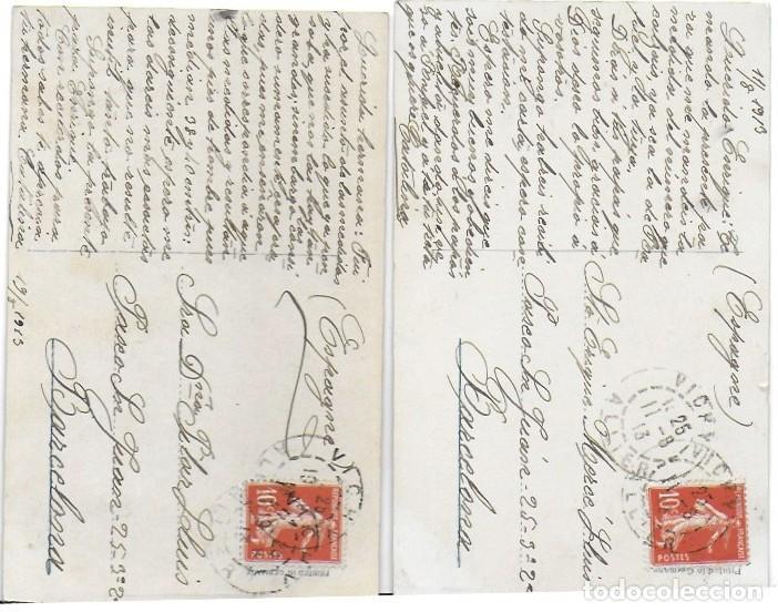 Postales: P- 8449. PAREJA DE POSTALES FOTOGRAFICAS, NIÑOS. AÑO 1913. - Foto 2 - 127619659