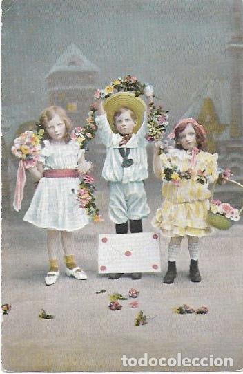 P- 8412. POSTAL FOTOGRAFICA NIÑOS. (Postales - Postales Temáticas - Niños)