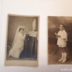 Postales: POSTALES NIÑOS COMUNIÓN. . Lote 129225759