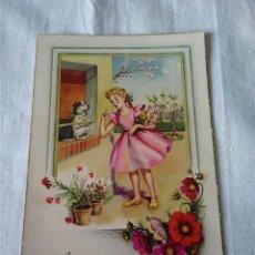 Postales: 25-TARJETA POSTAL NIÑA, C Y Z, Nº 5/A, 1958, ESCRITA. Lote 129270119
