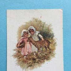 Postales: POSTAL FRANCESA NIÑOS CON CERVATILLO _LEY193. Lote 131709702