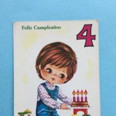 Postales: POSTAL INFANTIL DE CUMPLEAÑOS _LEY194. Lote 131709894