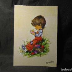 Postales: POSTAL MARY MAY 407/2 COLECCIÓN PERLA PROCEDENTE DE PAPELERÍA. Lote 132483318