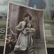 Postales: DIFICIL TARJETA POSTAL 1909 LA ORACION PARA PAPA . AS 714 - ESCRITA , VER FOTO . Lote 133037486