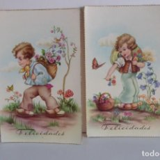 Postales: DOS POSTALES ANTIGUAS. Lote 133793322