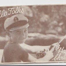 Postales: HELLO FOLKS -- HAPPY CRISTMAS. Lote 133870842