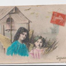 Postales: POSTAL FRANCESA CON ÁNGELES - ALGO TROTADA - ESCRITA . Lote 133870886