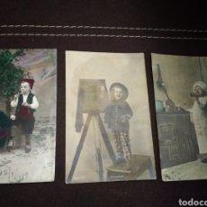 Postales: RARAS POSTALES NIÑOS TRABAJADORES Y CON VICIOS 1919, 1924. Lote 134025358