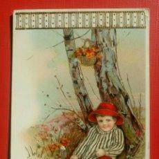 Postales: BONITA POSTAL NIÑO EN UN ARBOL CON UNA CARTA ESCRITA AÑO 1919 VALENCIA. Lote 134817241