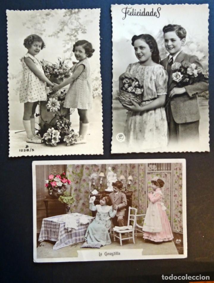 3 ANTIGUAS POSTALES DE NIÑOS, ORIGINALES DE EPOCA ( NO SON REPRODUCCIONES). VER FOTOS REVERSO (Postales - Postales Temáticas - Niños)