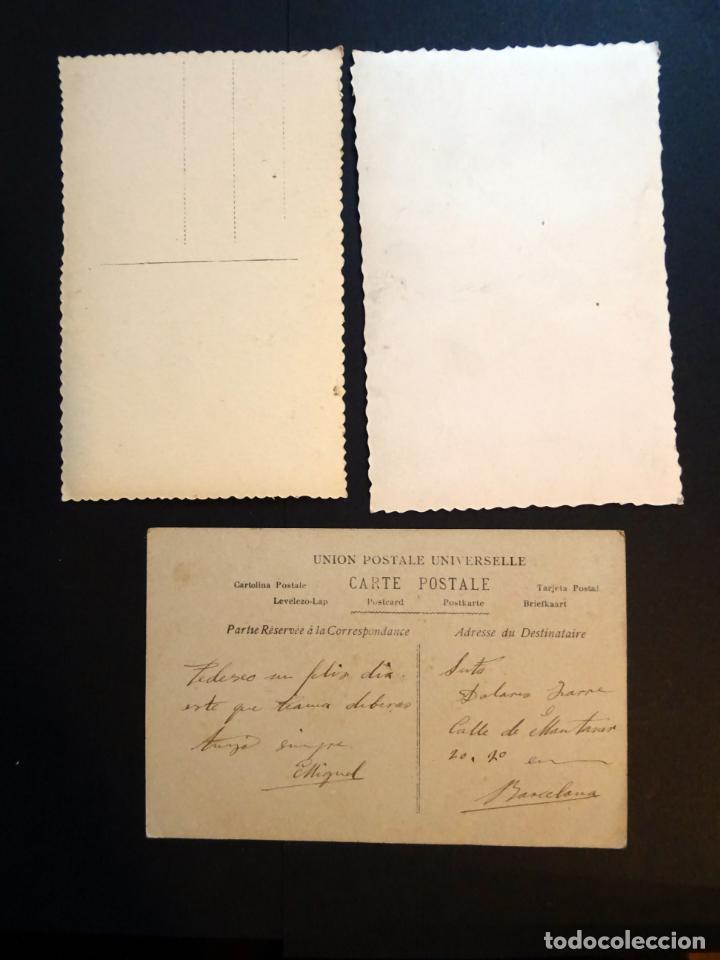 Postales: 3 antiguas postales de niños, originales de epoca ( no son reproducciones). Ver fotos reverso - Foto 2 - 136273626