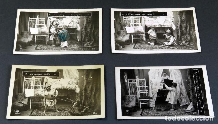 4 Postales Ninos Jugando Disfraces Con Frase Mg Comprar Postales
