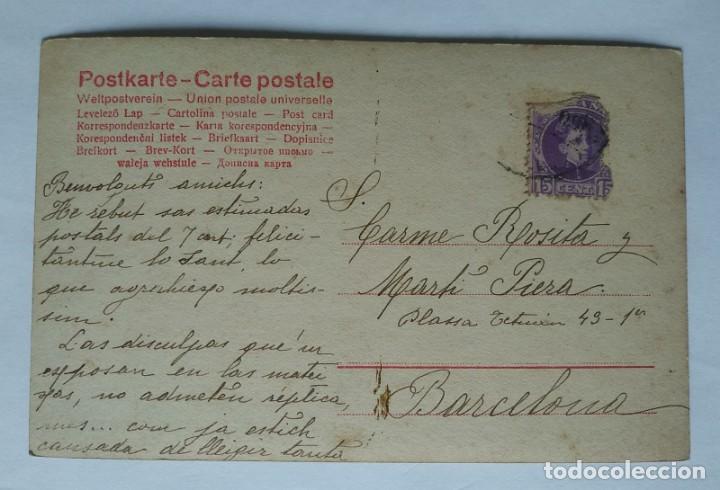 Postales: 1905 Niños fumando puros y pipa. Postal antigua circulada 17/09/1905 - Foto 3 - 139167914
