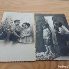 Postales: DOS FOTOS POSTALES NIÑOS. Lote 139475622