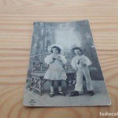 Postales: ANTIGUA POSTAL NIÑOS, 1918. Lote 139476358