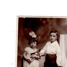 Postales: TARJETA POSTAL FOTOGRAFICA INFANTIL. DOS NIÑOS.. Lote 140093366