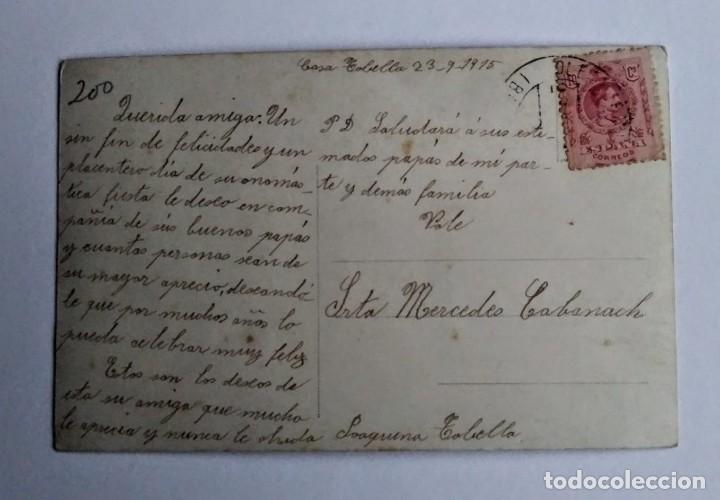 Postales: 1915 niño con telescopio circulada - Foto 2 - 140771466