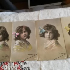 Postales: SERIE DE 4 ANTIGUAS POSTALES FOTOGRÁFICAS DE 1911. Lote 143876314
