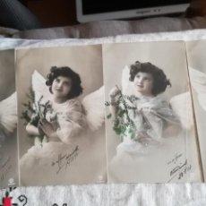 Postales: SERIE DE 4 ANTIGUAS POSTALES FOTOGRÁFICAS DE 1910. Lote 143876953