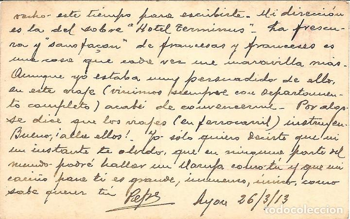 Postales: POSTAL DE NIÑAS MUY ANTIGUA MANUSCRITA - RPH 2972/3 - AÑO 1913 - Foto 2 - 144350106