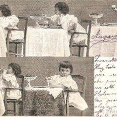 Postales: POSTAL DE NIÑAS MUY ANTIGUA MANUSCRITA - 3147 ALTEROCCA - TERNI. Lote 144351070