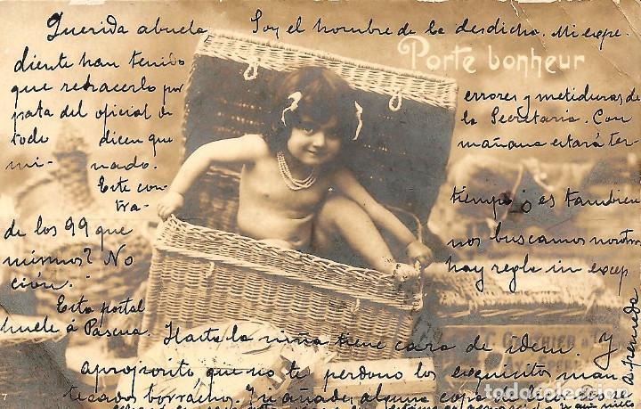 POSTAL DE NIÑAS MUY ANTIGUA MANUSCRITA - CIRCULADA DE MURCIA A MADRID AÑO 1902 (Postales - Postales Temáticas - Niños)