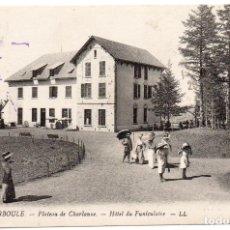 Postales: POSTAL FRANCESA FRANCIA MUY ANTIGUA LA BOURBOULE, HOTEL DEL FUNICULAR EDITOR LL.. Lote 146449186