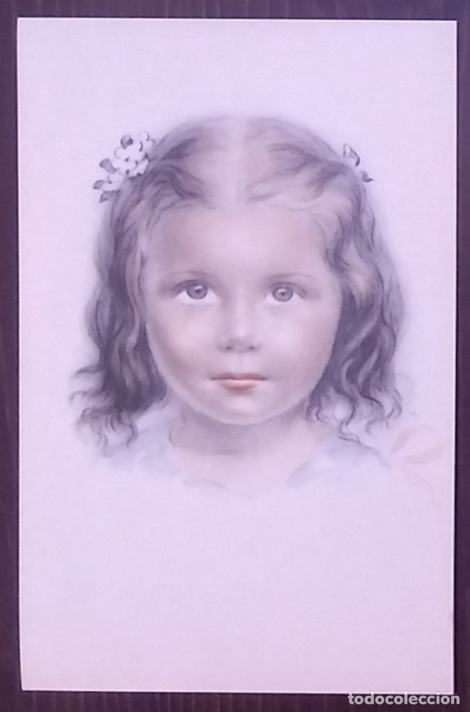 Postales: Postal años 50 niña dibujada colores pastel Serie 600 Muy buen estado 14x9 Impresa en España - Foto 2 - 146431538