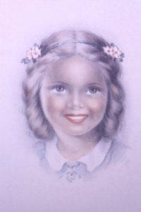 Postal años 50 niña dibujada colores pastel Serie 600 Muy buen estado 14x9 Impresa en España