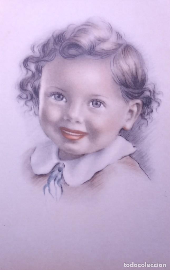 Postales: 8 postales años 50 niñas dibujadas colores pastel Serie 600 Muy buen estado 14x9 Impresas en España - Foto 3 - 146422806