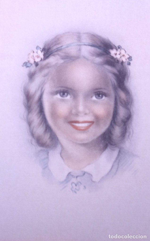 Postales: 8 postales años 50 niñas dibujadas colores pastel Serie 600 Muy buen estado 14x9 Impresas en España - Foto 7 - 146422806