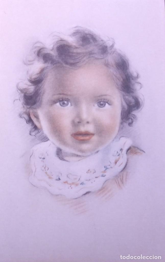 Postales: 8 postales años 50 niñas dibujadas colores pastel Serie 600 Muy buen estado 14x9 Impresas en España - Foto 5 - 146424062