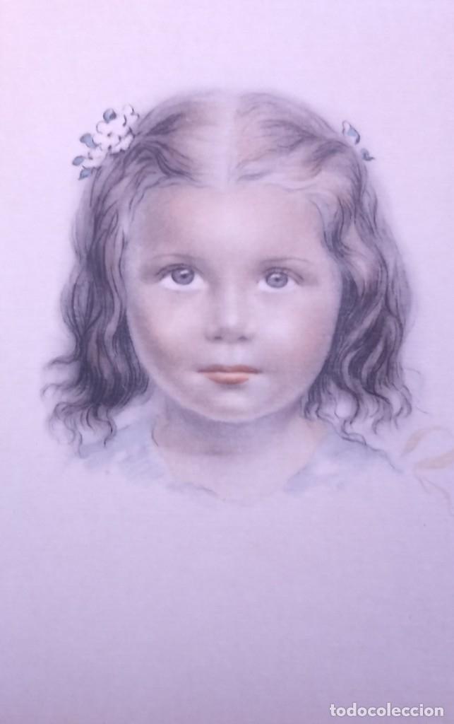 Postales: 8 postales años 50 niñas dibujadas colores pastel Serie 600 Muy buen estado 14x9 Impresas en España - Foto 6 - 146424062