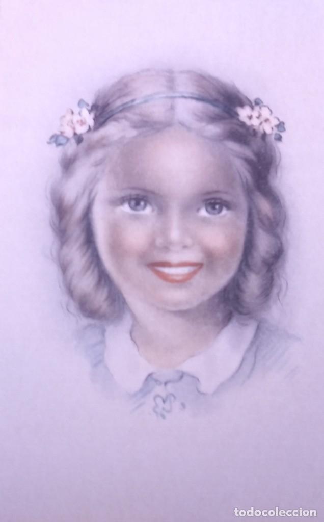 Postales: 8 postales años 50 niñas dibujadas colores pastel Serie 600 Muy buen estado 14x9 Impresas en España - Foto 7 - 146424062
