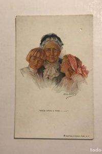 Postal abuela y niños