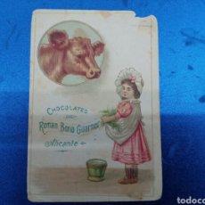 Postales: CROMO DE CHOCOLATES ROMAN BONO GUARNER , LA INDUSTRIAL ALICANTINA SIGLO IXX. Lote 147915352