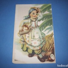Postales: POSTAL REGIONALES INFANTILES ILUSTRADORA GIRONA CANARIAS. Lote 148202106
