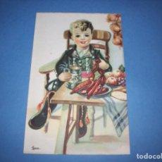 Postales: POSTAL REGIONALES INFANTILES ILUSTRADORA GIRONA EXTREMADURA. Lote 148202886