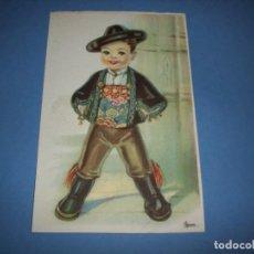 Postales: POSTAL REGIONALES INFANTILES ILUSTRADORA GIRONA LEON. Lote 148203010