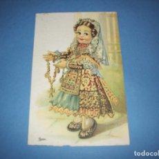 Postales: POSTAL REGIONALES INFANTILES ILUSTRADORA GIRONA LEON. Lote 148203450