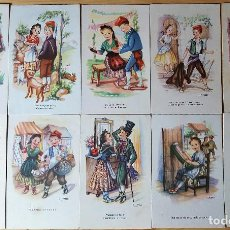 Postales: LOTE 10 POSTALES ADAGIS POPULARS DIBUJOS GIRONA EDICIONES DE ARTE ARTIGAS VARIAS SERIES. Lote 152879601